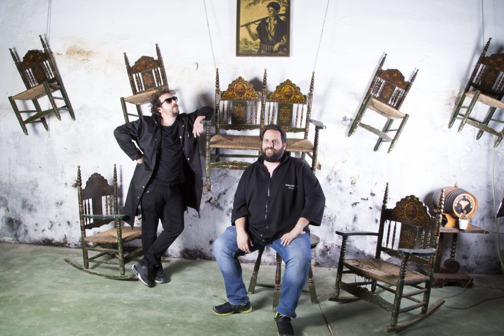 Los Voluble: Benito y Pedro Jiménez. Bodega Centenaria. Foto: Celia Macías
